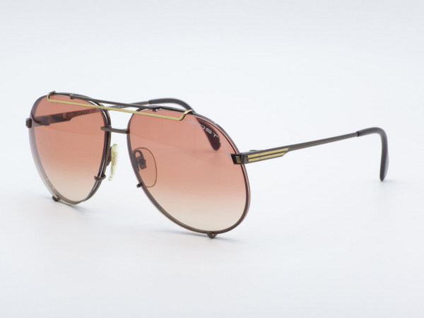 NEOSTYLE VIP Pilot Herren Sonnenbrille Metallrahmen Pink Gradient Lense Übergroße Männer Brille GrauGlasses