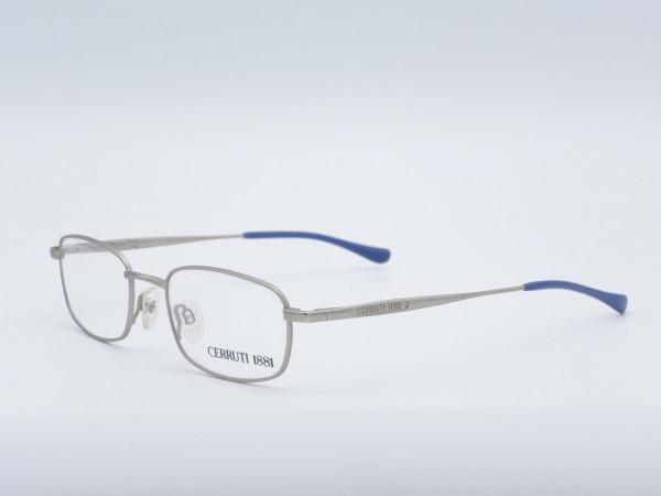 CERRUTI 1881 silberne rechteckige metall Herren Brille Modell 5249 GrauGlasses