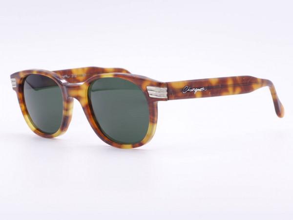Chevignon Original Vintage Sonnenbrille 90er Jahre mit grünen Mineralgläsern, Bernstein Farben Fassung im Panto Stil