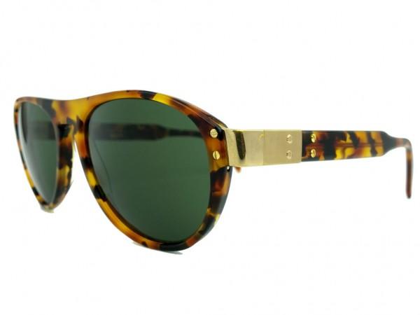 Silhouette M2117 Vintage Herren Sonnenbrille mit Leopard Muster und Grünen Gläser