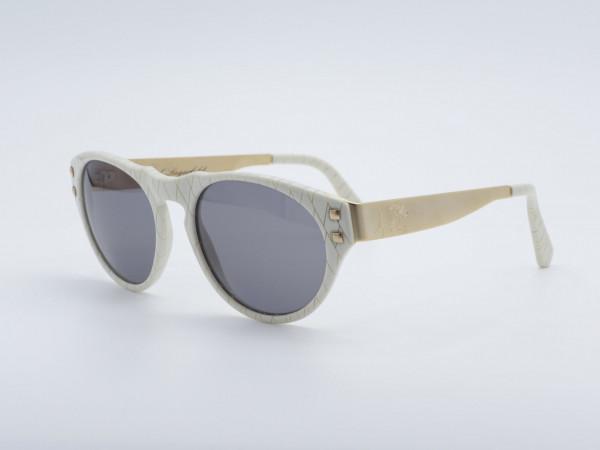 Karl Lagerfeld Original Panto Sonnenbrille Gold Weiss GrauGlasses Vintage Brille 3602