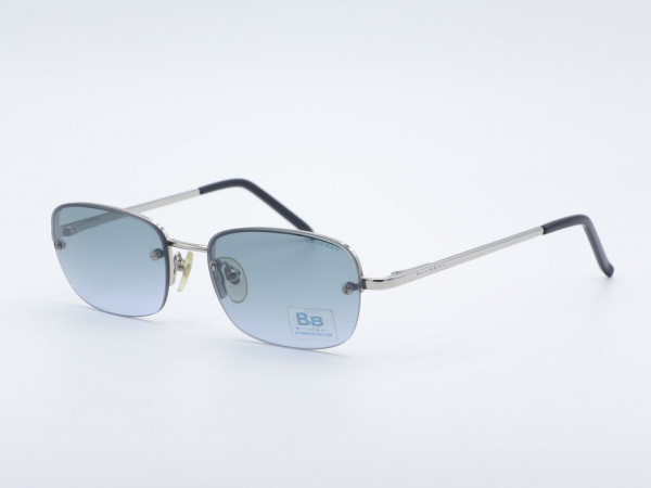 Safilo Bluebay rechteckige Metall Herren Sonnenbrille Federscharniere GrauGlasses
