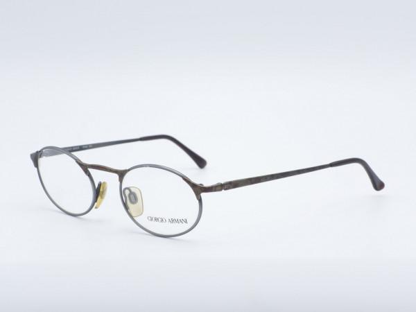Giorgio Armani oval Metall Herren Fassung Brille Modell 224 GrauGlasses