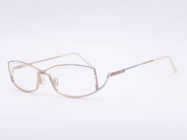 Luxus Brille Cazal Damen Modell 468 rechteckige Metall Fassung für Frauen in mint grünem goldenen Farbverlauf GrauGlassses