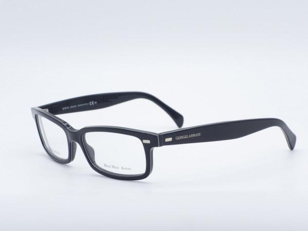 Giorgio Armani schwarze rechteckige moderne Herren Brille Modell 822