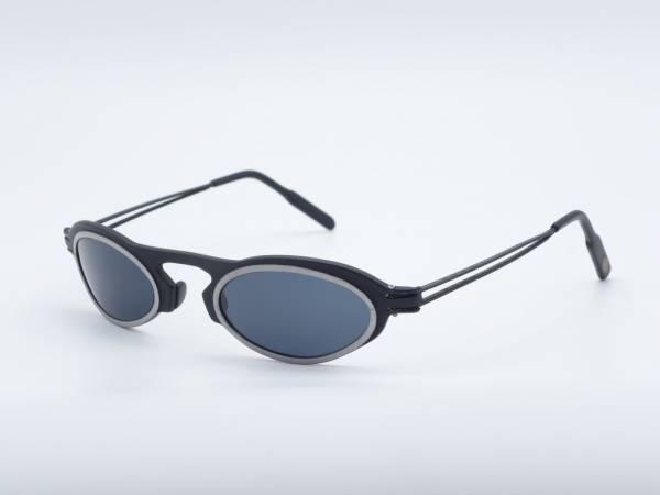 IMAGO Lady Virgin Oval seltene schwarze Metall Herren Sonnenbrille Trekki StarWars GrauGlasses