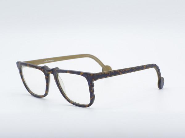 l.a. Eyeworks Quadratisch Gemustert Männer Brille Modell KEYS Kunststoff Vintage Fassung GrauGlasses