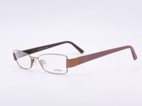 Cazal Conzept Metall Damen Brille Modell 504 moderne rechteckige Fassung lila Bügel GrauGlassses