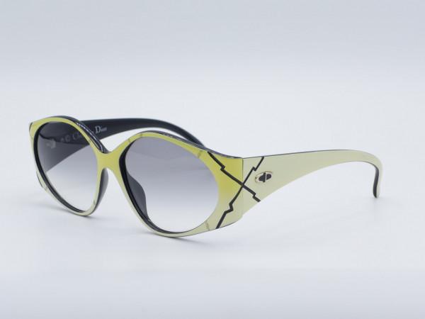 DIOR 2348 Gelb Weiß Frau Sonnenbrille Vintage 90er Jahre Fassung Damen GrauGlasses
