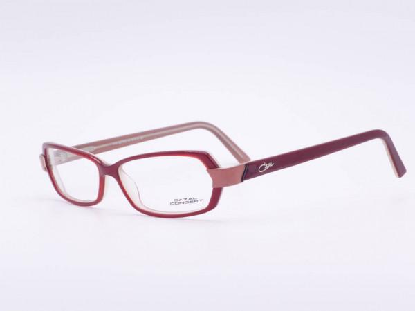 Weinrote moderne Cazal Conzept Damen Kunststoff Fassung Modell 503 rechteckige Frauen Brille GrauGlassses