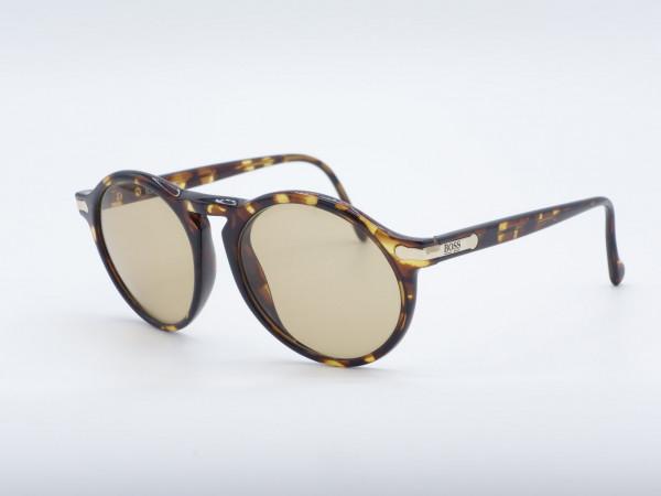 HUGO BOSS 5160 Panto Leopard Braun Herren Sonnenbrille GrauGlasses