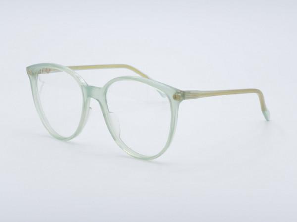 ZOLLITSCH 800 Panto Form Frauen Brille 80er Transparenter Grüner Rahmen Berlin GrauGlasses