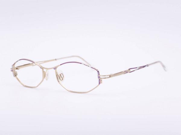 Cazal Frauen Brille Lila Silber Gold Metall Rahmen Damen Rechteck Modell 426