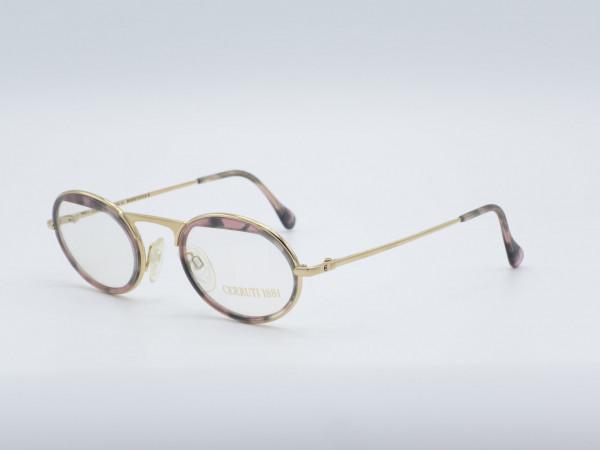 CERRUTI 1881 Damen Brille Modell 1801 Bernstein Gold Plated GrauGlasses