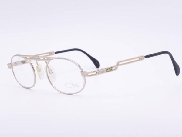 Cazal Mod 762 silberne ovale Herren Brille 90er Jahre Cari Zalloni Vintage Fassung neu ungetragen