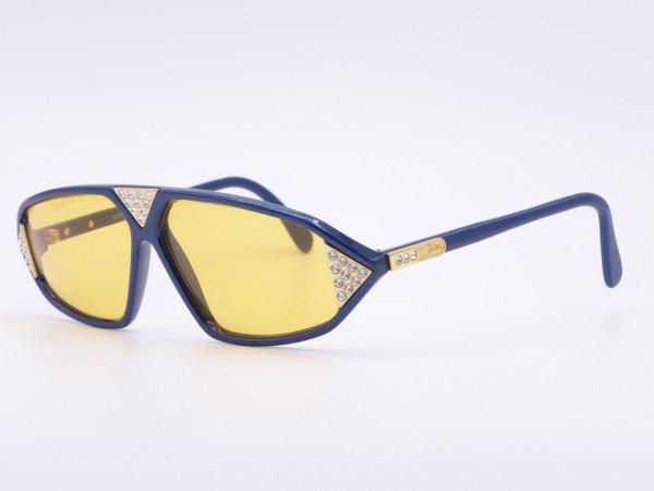 Strass Vintage Damen Sonnenbrille Cazal Modell 199 80er Jahre orange Gläser ungetragen blaue Frauen Fassung GrauGlasses