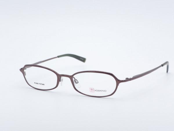 Yoshino oval violett Titan Brille, Zeitlose Luxus Fassung in schimmernd Lila, Nickelfrei Made in Japan