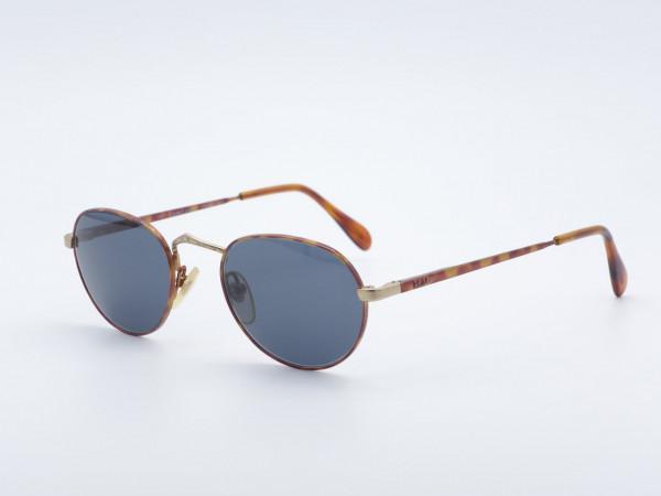 Polo Ralph Lauren 561 Herren runde Sonnenbrille in Metall Bernstein Farbe