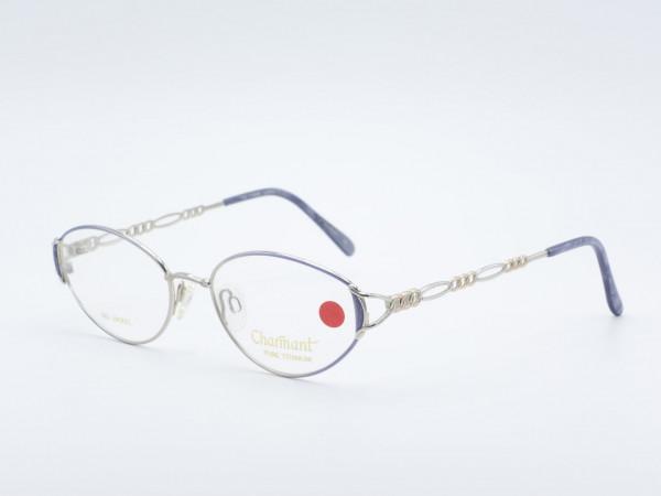 Charmant 7626 ovale silberne Titan Damen Brille, Frauen Fassung in Silber Nickelfrei Made in Japan