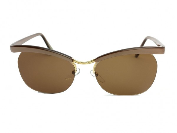 Essel Retro 60er Jahre Vintage Sonnenbrille (Essilor) Modell Nylor ARC Color Metallic Braun